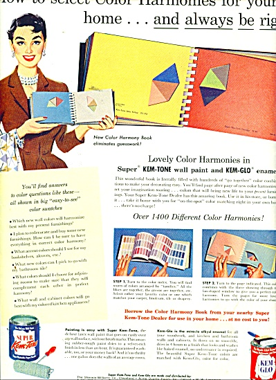 Super Kemtone and Kem glo paints - ad 1956 (Image1)