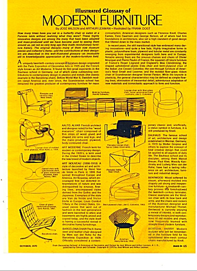 Illustrated Glossary Of Modern Furniture