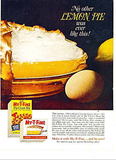 My - T - Fine pie filling ad (Image1)