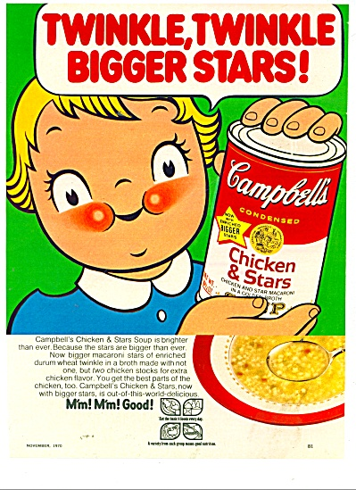 Campbell's Chicken & Stars soup ad 1965 (Image1)