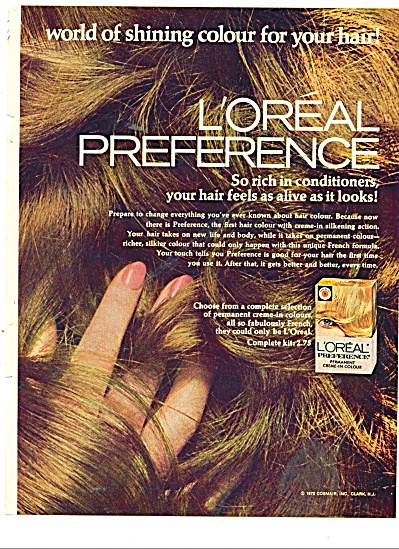 1970 L'Oreal preference 2PG AD MODEL (Image1)