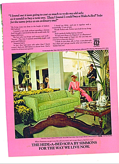 Simmons Hide-a-bed sofa ad (Image1)
