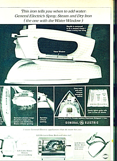 General Electric  spray, stam & dry Iron ad (Image1)