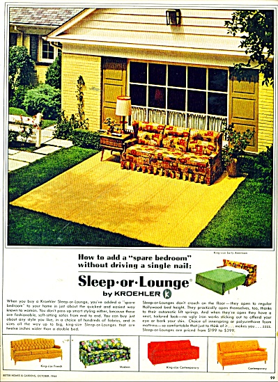 Sleep or Lounge by Kroehler ad 1964 (Image1)