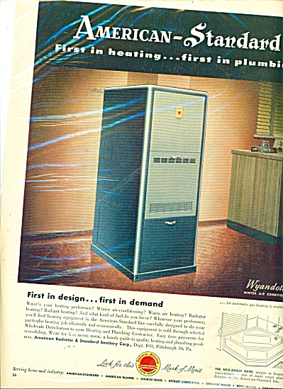 American -Standard heating and plumbing ad (Image1)