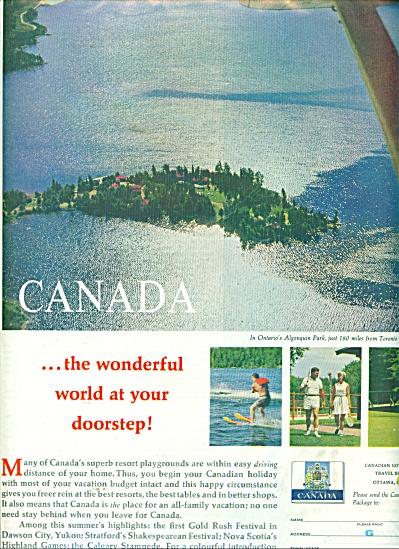 Canada travel information ad 1962 (Image1)