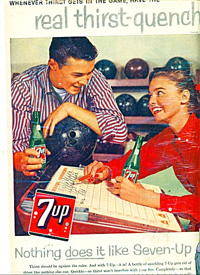 7 Up drink ad 1958 (Image1)