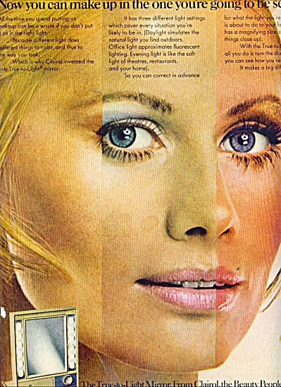 1969 CLAIROL EVELYN KUHN BEAUTY PEOPLE AD (Image1)