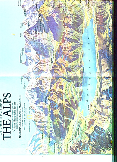 A Traveler's Map of THE ALPS  1985 (Image1)