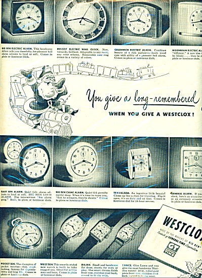 Westclox - Makers Of Big Ben Ad - 1950