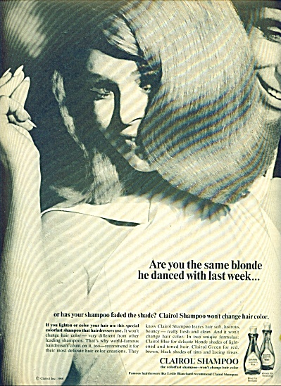 1966 Clairol shampoo ad Are You the BLONDE (Image1)