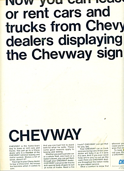 1966 CHEVY Chevrolet CHEVWAY Truck AD Rental (Image1)
