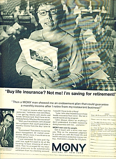 MONY, Mutual of New York ad 1966 (Image1)