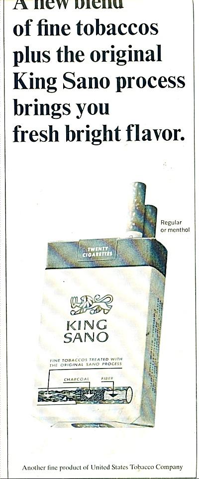 King Sano  regular or menthol cigarettes ad (Image1)