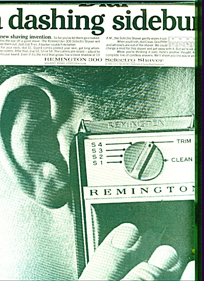 Remington 300 Selectro shaver ad (Image1)