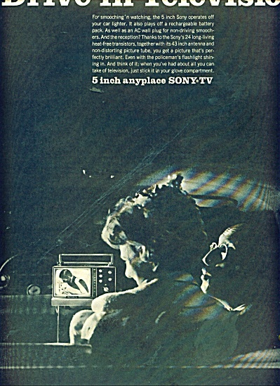 Drive in Sony TV television ad 1966 (Image1)