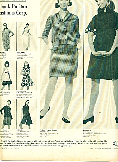 1966 DuPont Zepel Puritan Fashions Clothes AD (Image1)