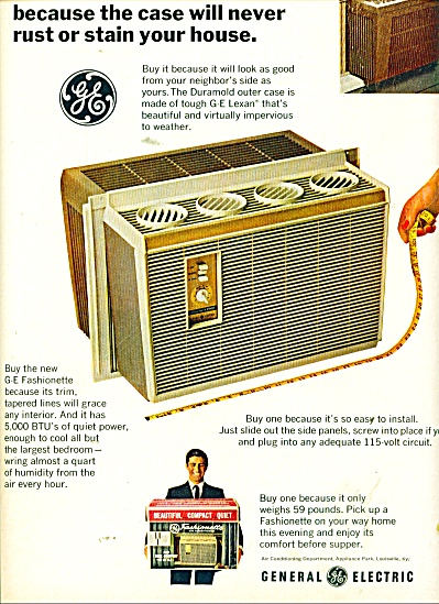General Electric Air Conditioner Ad 1966