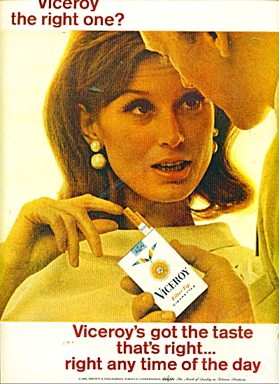 1966 Viceroy cigarettes ad BEAUTIFUL WOMAN (Image1)