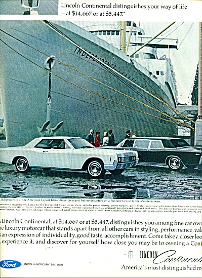 Lincoln Continental automlobile ad (Image1)