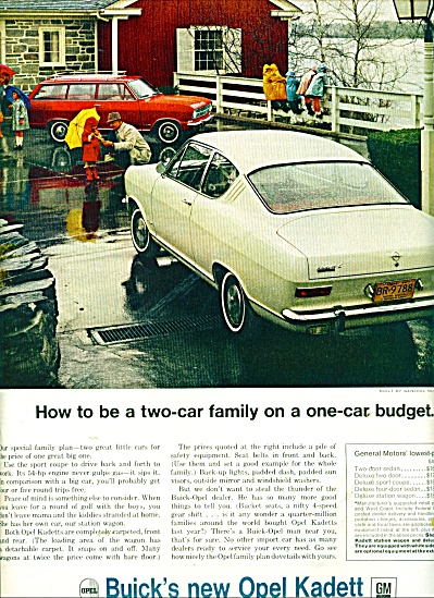Open Kadett by Buick automobile ad (Image1)
