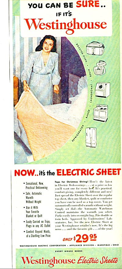 1948 Westinghouse electric sheets ad 1948 (Image1)
