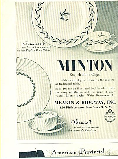 Minton English bone china  ads 1957 (Image1)