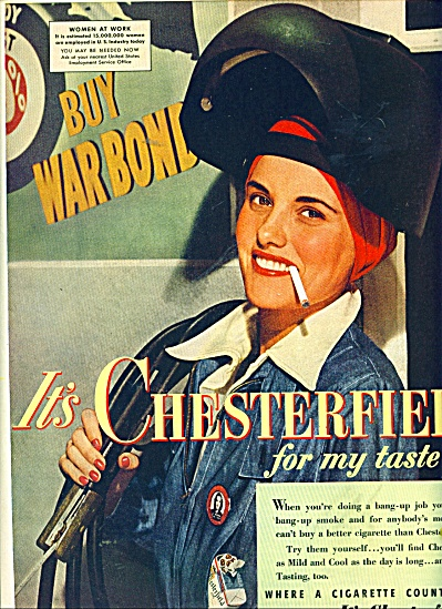 1943 Chesterfield Cigarettes AD WOMEN AT WAR (Image1)