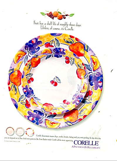 Corelle - a pattern of reliability ad 1997-98 (Image1)