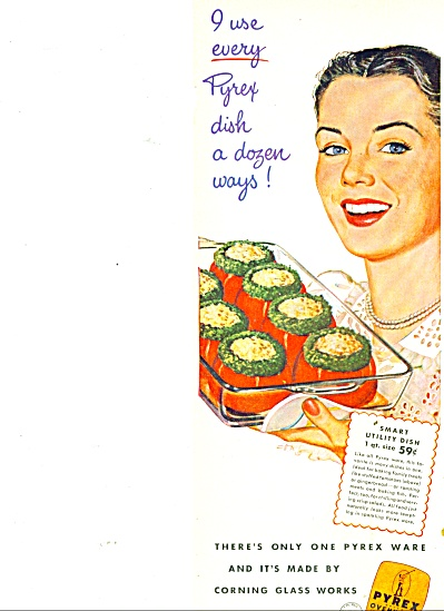 1948 Pyrex OVENWARE AD Utility Dish (Image1)