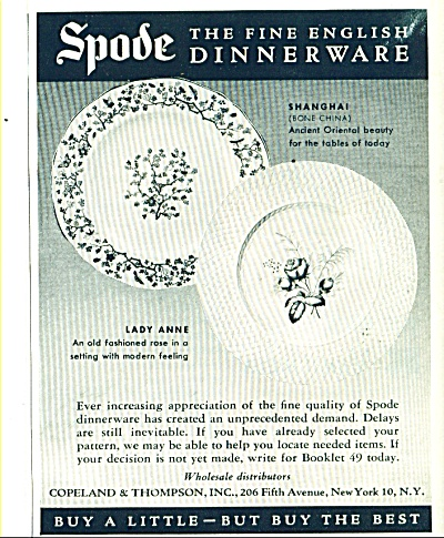 Spode english dinnerware ad (Image1)