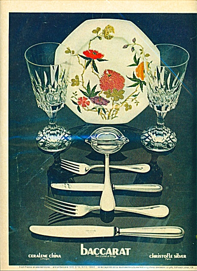 Baccarat ceralene china and silver ad 1975 (Image1)