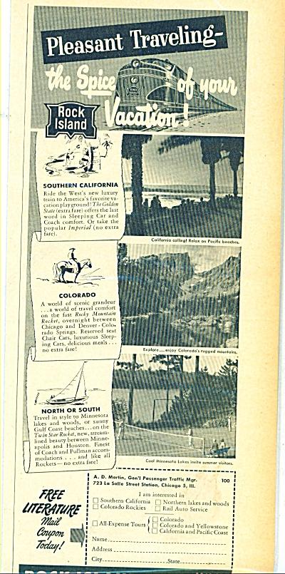 Rock Island Lines ad 1949 (Image1)
