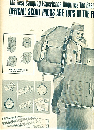 Official Scout Equipment Ads 1964