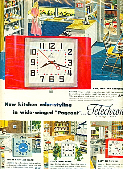 Telechron electric clocks ad 1952 (Image1)