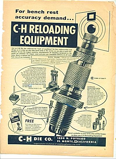 C-H Die Co. Reloading equipment ad 1955 (Image1)