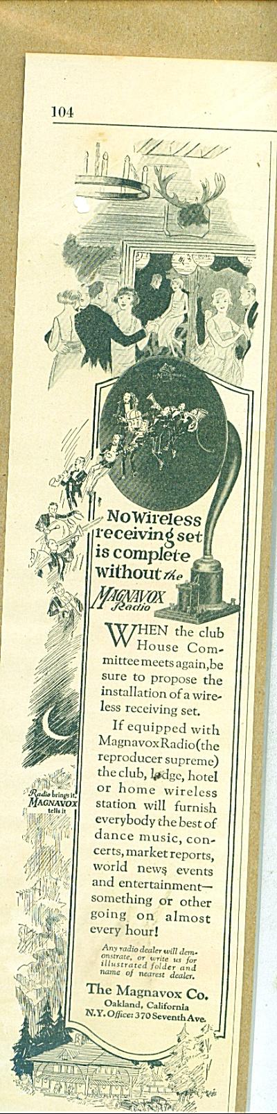 The Magnavox Co. ad - Vintage Victrola like (Image1)