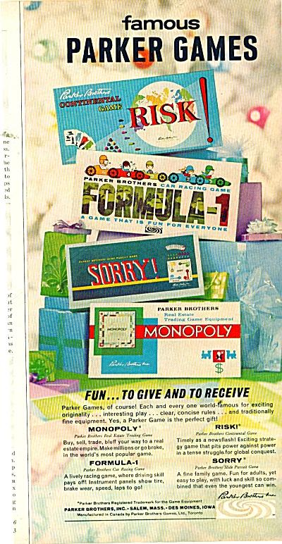 Famous Parker Games ad 1971 (Image1)