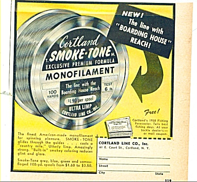 Cortland Smoke Tone Fishing Line Ad