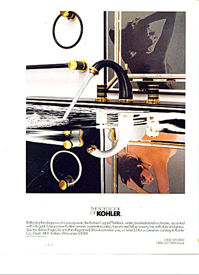The bold  look of Kohler - Young Swan ad 1986 (Image1)