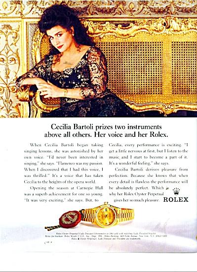 Rolex watches ad 1996 -CECILIA BARTOLI (Image1)
