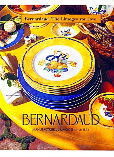 1986 Bernadrdaud Limoges Dinnerware AD (Image1)