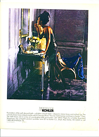 The bold look of Kohler-Console table ad 1988 (Image1)