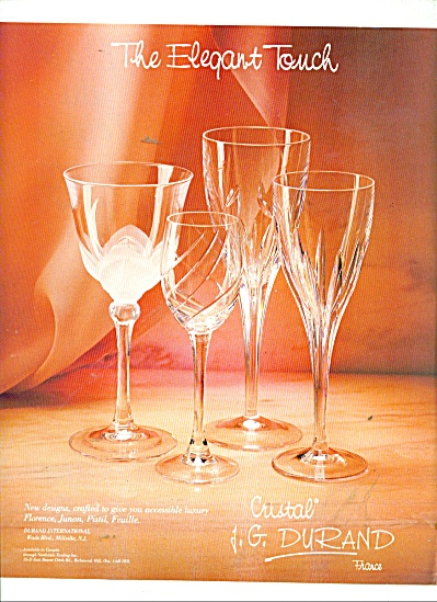 cristal j g durand france 1988 miscellaneous glass at miss pack ratz. Black Bedroom Furniture Sets. Home Design Ideas