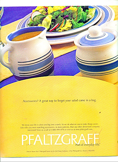 Pfaltzgraff RIO Pattern dinnerware ad 1999 (Image1)