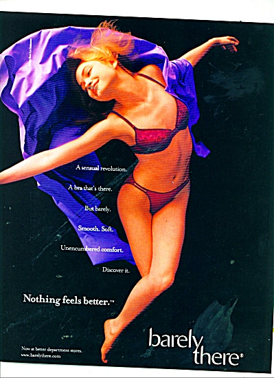 1999 Sara Lee Barely There Bra Ad