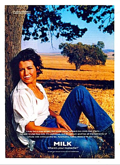 Milk mustache - Amy Grant ad 1999 (Image1)