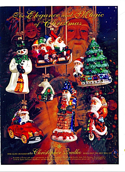 1979 Christopher RADKO Glass ORNAMENTS AD Chr (Image1)