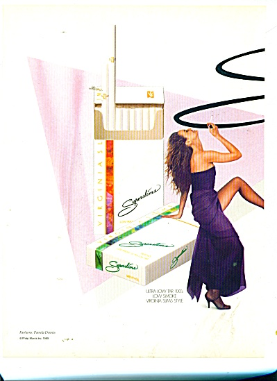 1979 VIRGINIA  SLIMS Superthin Cigarettes AD (Image1)