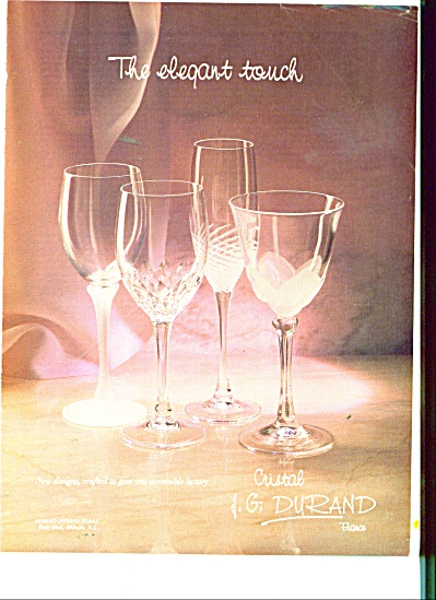 j g durand cristal france ad 1987 miscellaneous glass at miss pack ratz. Black Bedroom Furniture Sets. Home Design Ideas